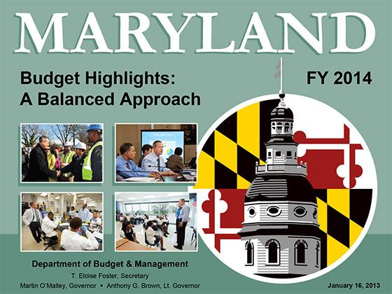 Budget presentation title slide
