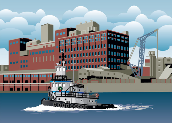 yonkers holiday illustration