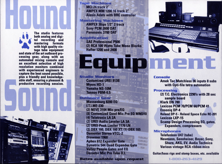 Hound Sound Brochure Inside