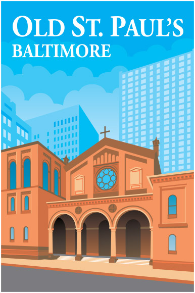 Old St. Paul's Baltimore illustration
