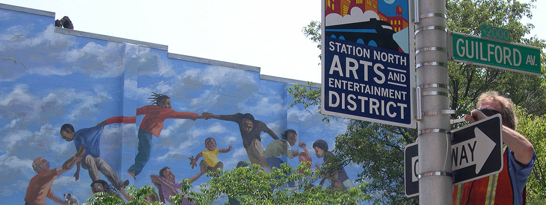 Station North Arts District gateway signs
