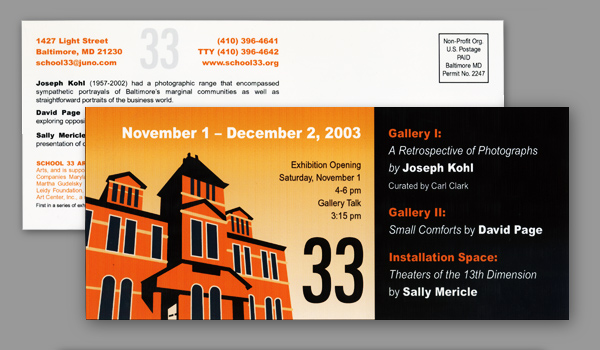 School 33 Art Center Exhibition Invitation