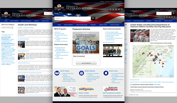 MD veterans website